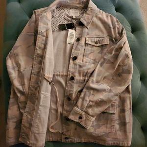 Torrid Pink/Grey Camo Twill Anorak Jacket (NWT)